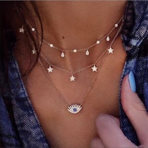 Jewelry - Evil Eye Layered Necklace